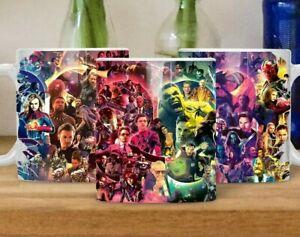 Avengers Superhero and Marvel Universe (MCU) Mug, Gift. Iron Man,Spider Man,Thor