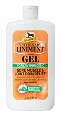 ABSORBINE VETERINARY LINIMENT GEL Sore Muscle Relief Horses Non-Greasy 12oz