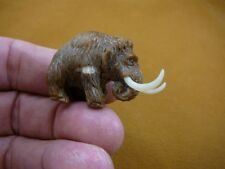 (tb-wooly-3) little baby Woolly Mammoth Tagua NUT palm figurine Bali carving