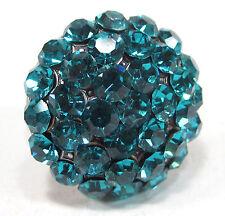 SoHo® großer Strassring geschliffene Kristalle blue circon altsilber Halbkugel