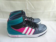 New Men's Adidas Court Attitude Hi Athletic Shoe G99393 Sz 10.5 BlueGryPnk 31B