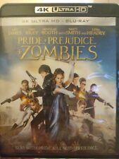 Pride + Prejudice+ Zombies, 4k + Blu-ray. Excellent Condition.