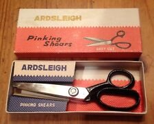 "Vintage Ardsleigh PINKING Sewing SHEARS 7"" Blunt End Easy Cut in Orig. BOX Japan"