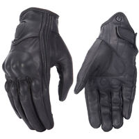 Retro Real Leather Motorcycle Gloves Moto Waterproof Gloves Motocross Glove NT