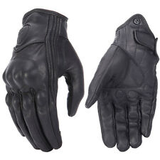 Retro Real Leather Motorcycle Gloves Moto Waterproof Gloves Motocross Gloves *AP