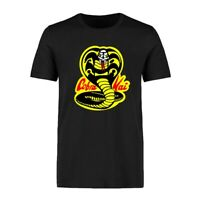 Funny Cobra Kai Pendant Printed Men's T-shirts Cotton Short Sleeve Cool Tops Tee