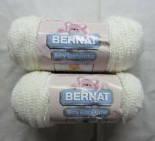 2 Skeins White Bernat Baby Coordinates Craft Sport Weight Yarn 5.6 oz each New