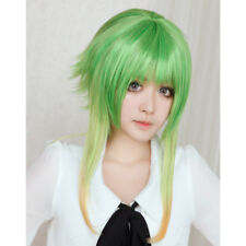 VOCALOID Megpoid GUMI Wig Grass Green Gradient Color Cosplay Wigs + Wig Cap