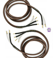 Analysis Plus Bi-Wire Chocolate Theater 4 Speaker Cable 4x16AWG Bi Wired 8ft pr