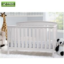 Convertible Baby Bed 4 in 1 Full Size Crib White Nursery Bedroom Furniture New!