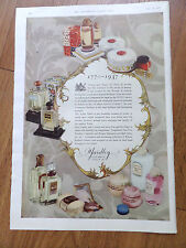 1937 Yardley Perfumes Ad Bond Street Toilet Table Face Creams Lotions Lipsticks