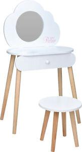 Schminktisch Kindertisch Frisiertisch Kinderschminktisch Spiegel Princess Weiß