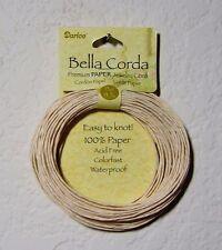Darice Bella Corda Premium Paper Jewelry Cord: Acid-Free & Waterproof - Ivory