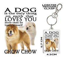 CHOW CHOW KEYRING Can Be Personalised A Dog Loves You CHOW CHOW gift