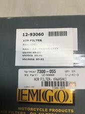 KAWASAKI AIR FILTER 12-93060 VN700 VN750A VN1500A Vulcan