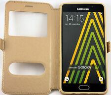 Etui Housse Coque Pochette Or Intérieur Silicone pour Samsung Galaxy J7 2016