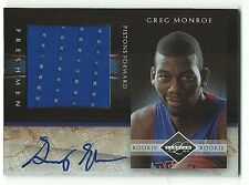 Greg Monroe Pistons 2010-11 Limited Rookie Freshmen Patch Auto Rookie 73/99