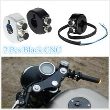 One Pair 12V 10A CNC Motorcycles ATVs Momentary Switch Reset Buttons Black 25mm