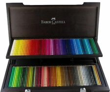 #110013 Faber Castell Wood Case of 120 Polychromos Pencils Assorted Colours Art