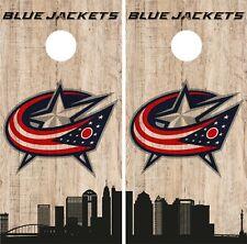 Columbus Blue Jackets Cornhole Wrap NHL Game City Skyline Skin Vinyl Decal CO893