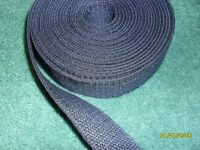 5 Yards 1 1/8 in wide NAVY  dark blue soft spun polyester webbing belts