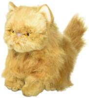 DEMDACO Small Persian Cat Friend Muted Orange Kids Plush Stuffed Animal Toy
