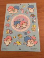 Ultra Rare Vintage 1976, 1983 Sanrio Little Twinstars Large Sheet Of Stickers BN