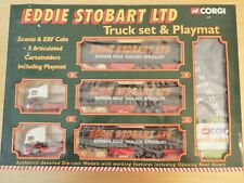 60008 Corgi Eddie Stobart Scania & ERF Truck Set & Playmat, NEW, Box Soiled