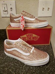 Vans Old Skool Glitter Kids Junior Size 7, Women's 8.5 NIB