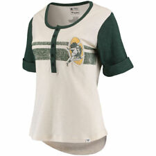 Green Bay Packers henley t-shirt women's medium NEW WITH TAGS NFL throwback!