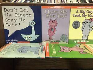 Lot of 5 Mo Willems Kids Books Elephant & Piggie/ Pigeon Random Lot