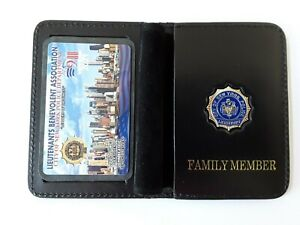 1 BRAND  NEW 2021 LBA PBA CARD WITH LEATHER FAMILY MEMBER WALLET NOT DEA SBA CEA
