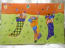 Holiday Seasonal Card Special Greeting Christmas Stockings Gift Post Vintage