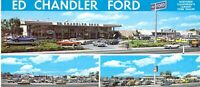 CA Hayward ED CHANDLER FORD AUTO DEALERSHIP 1975-83 MINT 4x9 postcard