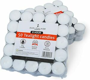 Tea Lights 8 Hour Long Burn Night Light Candles Unscented Tealights 50 /100 /400