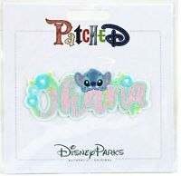Disney Parks Ohana stitch Patched Adhesive Patch NWT