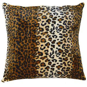 fa01a Black Light Brown Beige Leopard Print Fleece Pillow/Cushion Cover Cushion