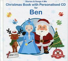 CHRISTMAS BOOK WITH PERSONALISED CD FOR BEN - STORIES & SONGS 4 ME