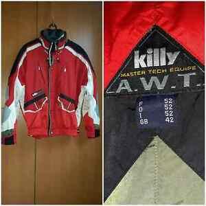 Ski Jacket Killy Master Tech A.W.T. Recco. Red / white. Size XL / 52/42.