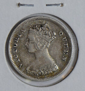 Hong Kong 1894 10 Cents silver H0084 combine