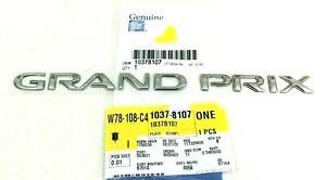 2004-2008 Pontiac Grand Prix rear trunk decklid chrome Nameplate Emblem new OEM
