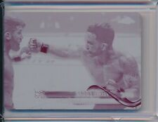 Frankie Edgar 1/1 2018 Topps UFC Chrome Magenta Printing Plate #70