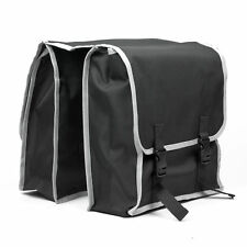 Bike, Bicycle, Pannier Bags - Double Rack - Black - Heavy Duty Water Proof Nylon