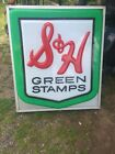 Large S&H Green Stamp Sign 32 by 36 Single Sided Lighted aluminum framed
