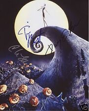 THE NIGHTMARE BEFORE CHRISTMAS CAST AUTOGRAPH SIGNED PP PHOTO POSTER