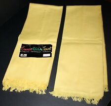 Vintage Cannon Kitchen Towels  Yellow  Unused Lot Of 2 NOS