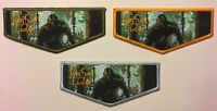 NEW! BIGFOOT OA LODGE 620 GLACIERS EDGE S1 CHARTER MEMBER OBV FIRST FLAPS SET