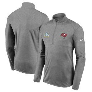 Nike Tampa Bay Buccaneers Super Bowl LV 1/4 Zip Jacket Gray Size Men's Medium
