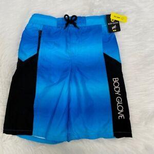 NEW wTag-BODY GLOVE Blue/Black Swim Trunks M 10/12