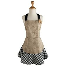 Apron - Paris Themed w/French Script, Postmarks and the Eiffel Tower, w/pocket